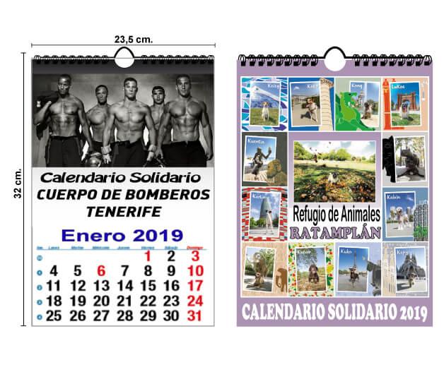 Calendario Solidario personalizado