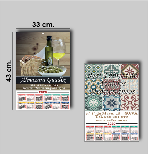 Poster Calendario de pared personalizado