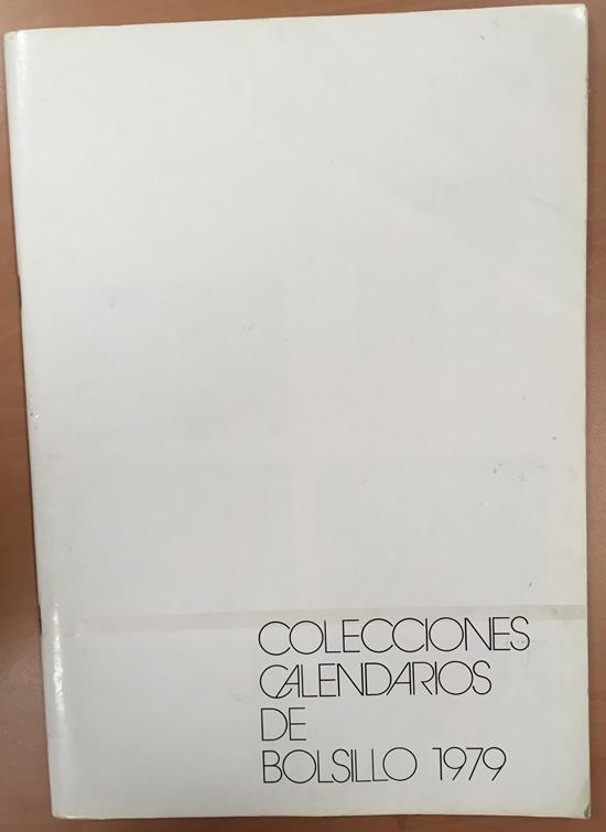 Catálogo de calendarios de bolsillo año 1979