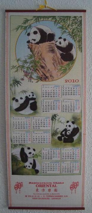 Calendario Restaurante Chino
