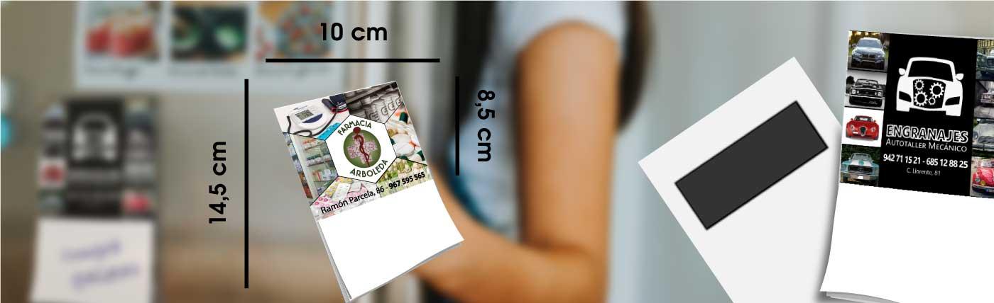 mini poster con block de notas e iman para nevera anxal 10x14,5 cm