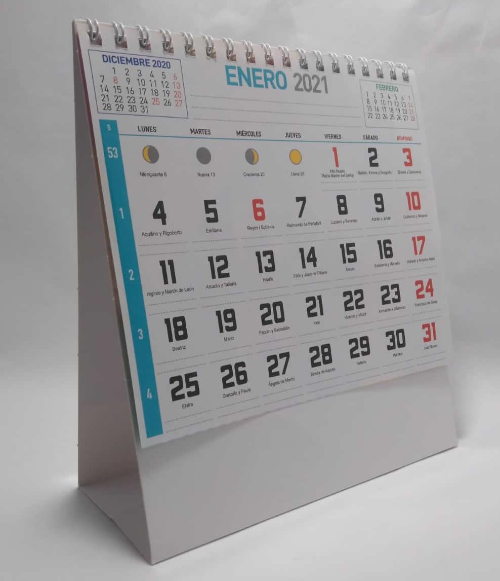 calendario de sobremesa maxi notas