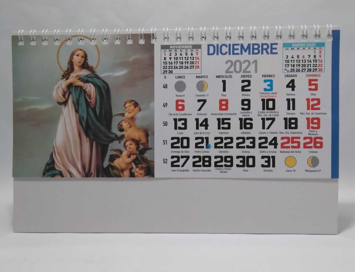 calendario de sobremesa espiral fotos religioso