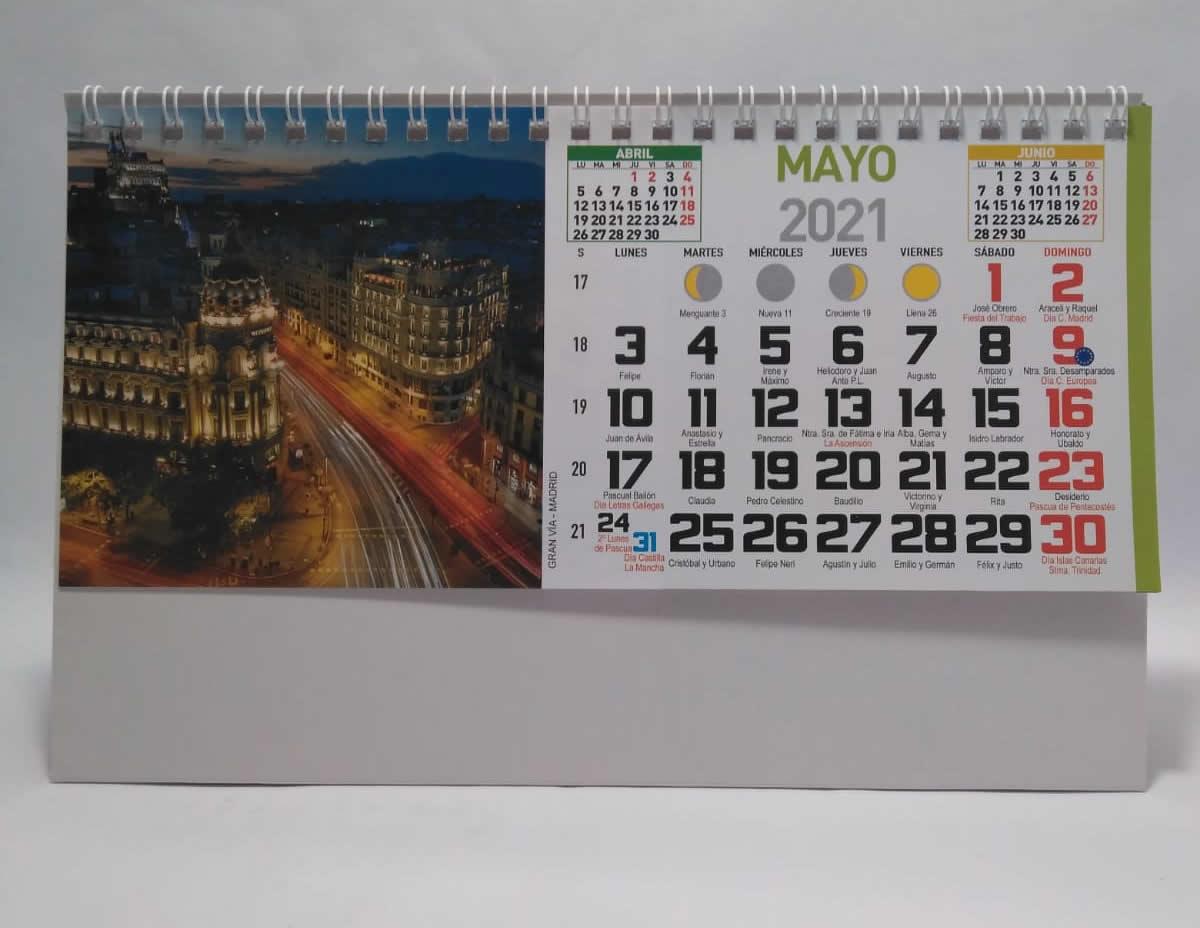 calendario de sobremesa espiral fotos paisajes nacionales