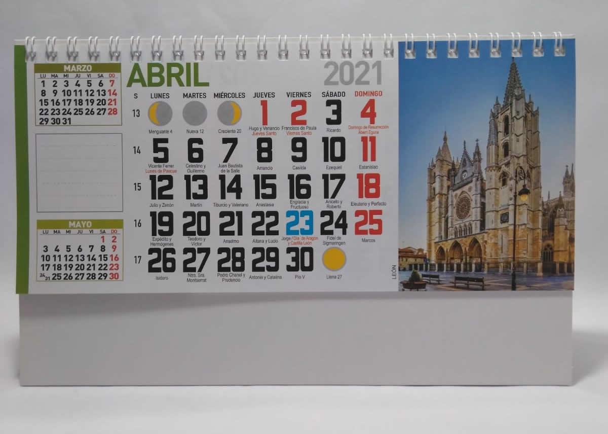 Calendario de sobremesa con espiral fotos paisajes nacionales
