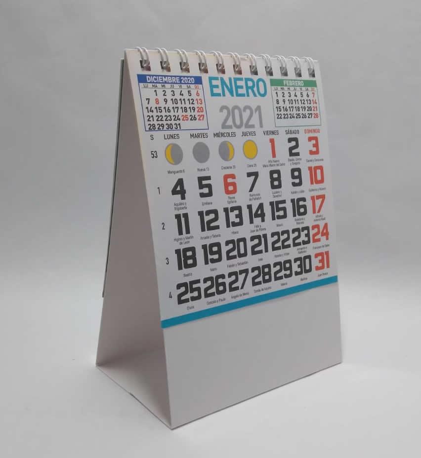calendario de sobremesa mini