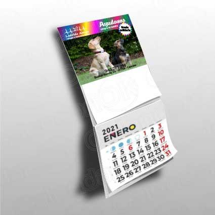 Calendario personalizado nevera con block de notas anxal 10x8,5 + 10x6 cm