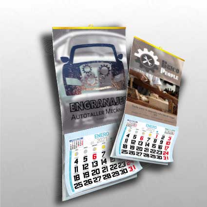 Calendario personalizado de pared en papel de 150g dos medidas diferentes