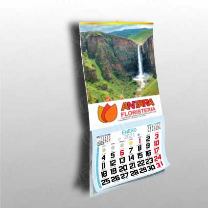 Calendario pared laminas serie 23,5 cm ancho diferentes largos