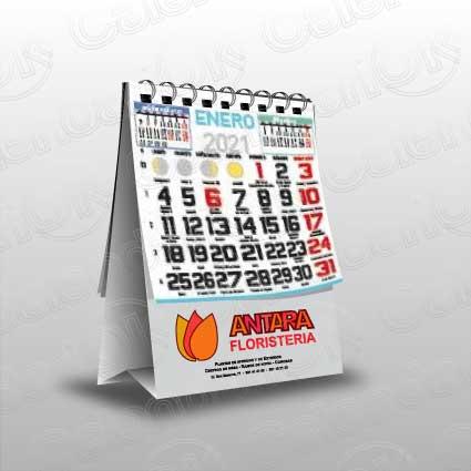 Calendario serie sobremesa tipo mini anxal 9,7x14 cm