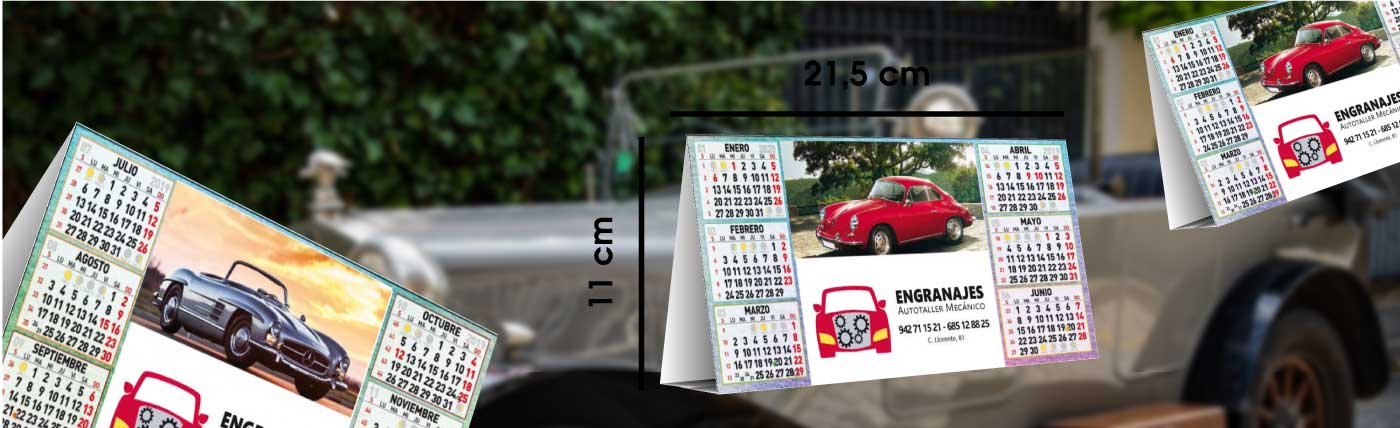 calendario de serie de sobremesa simple anxal 21,5x11 cm