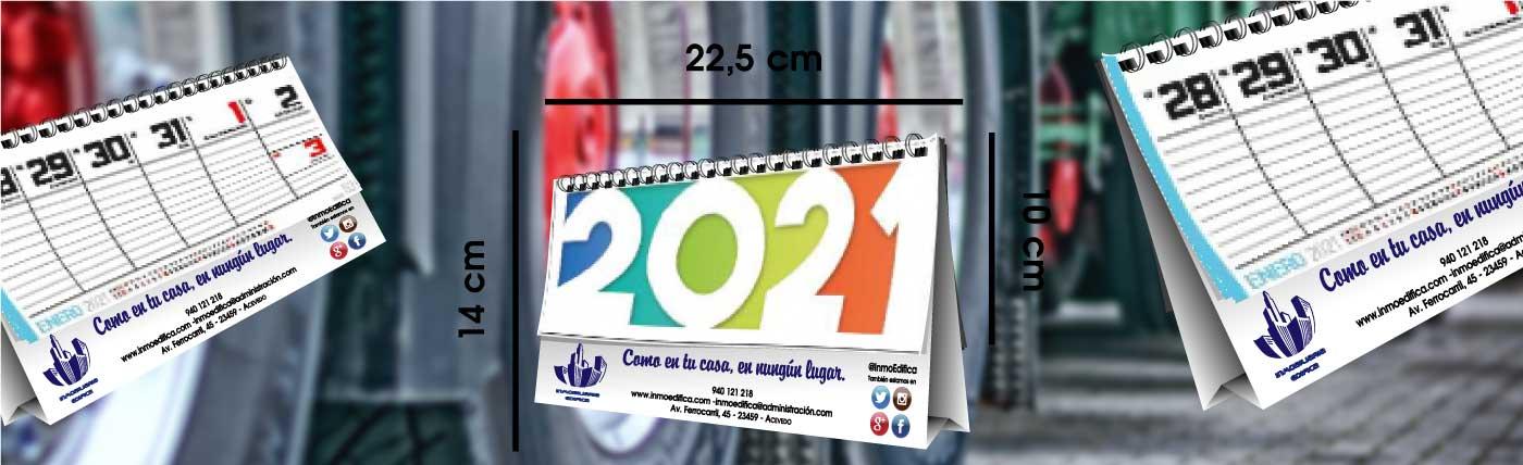 calendario de laminas de serie, de sobremesa, semanal, con 27 hojas, anxal 22x14 cm