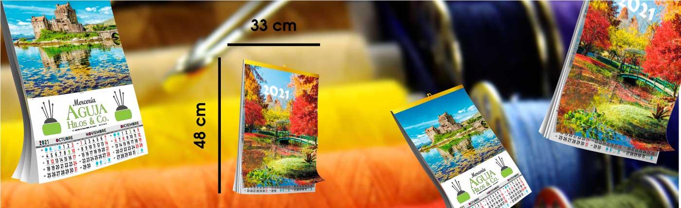Calendario de láminas de serie, de pared, trimestral, anxal 33x48 cm