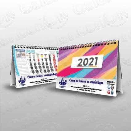 Calendario de sobremesa de serie con 13 hojas anxal 22x14 cm