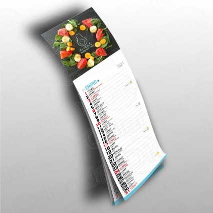 Calendario personalizado tipo nevera anxal 10x10 cm + faldilla lechera anxal 10x23,5 cm