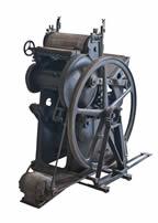 Máquina antigua de Impresión de calendarios