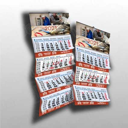 Calendario de pared personalizado con 3 o 4 meses a la vista