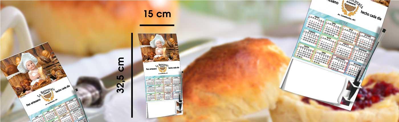 calendario de pared con lámina de serie, tipo cocina con pestaña para sujetar bolígrafo, anxal 19x32