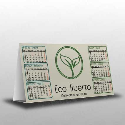 Calendario simple en papel reciclado