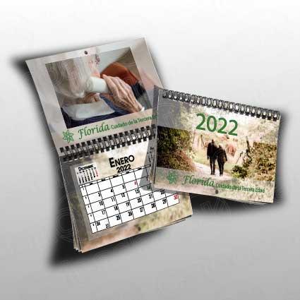 Calendario de pared personalizado tipo revista